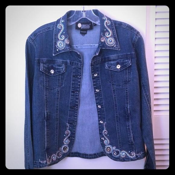 NWT $79 Alexander Jordan Denim Jean Jacket Womens Large L